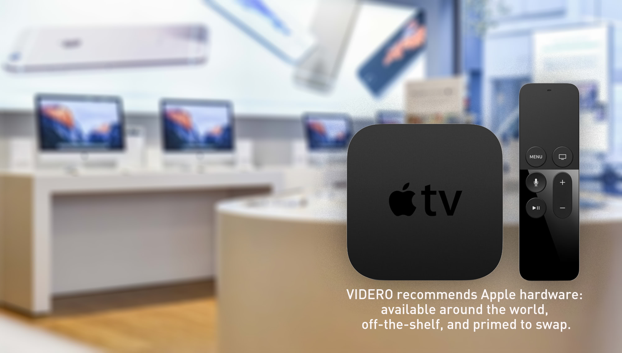 digital signage hardware: Apple TV, Mac, Android