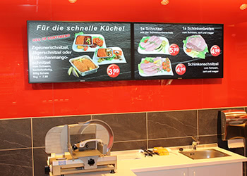 Digital signage example: grocery