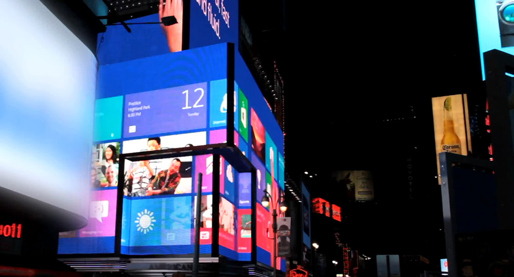Digital signage example: Times Square